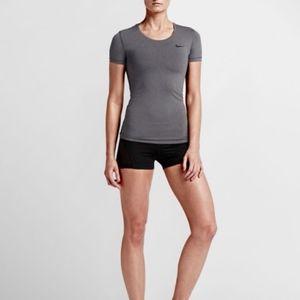 Nike Pro Gray Short Sleeve Tee Size L